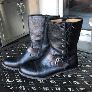 Sofft lace up ankle moto boots